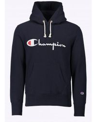 Champion - Blue Hooded Sweatshirt for Men - Lyst
