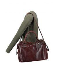 Barbour - Brown Leather Medium Travel Bag - Lyst
