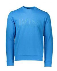 BOSS - Blue Salbo Sweat for Men - Lyst