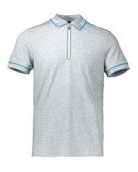 BOSS - Gray Pariq Polo for Men - Lyst