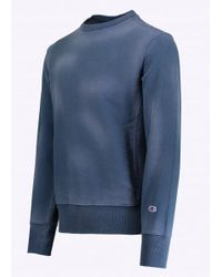Champion - Blue Crewneck Sweatshirt for Men - Lyst