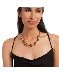 Trina Turk - Metallic Adjustable Open Link Collar Necklace - Lyst