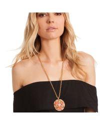 Trina Turk - Multicolor Wildflower Palm Leaf Pendant Necklace - Lyst
