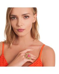 Trina Turk - Multicolor Indian Canyon Flower Ring - Lyst