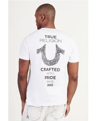 True Religion | White Shoestring Horseshoe Mens Tee for Men | Lyst