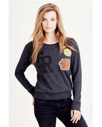 True Religion | Multicolor Patch Work Womens Sweatshirt | Lyst