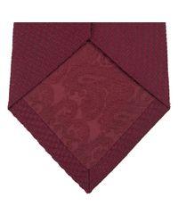 Turnbull & Asser - Red Burgundy Lace Silk Tie for Men - Lyst