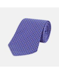 Turnbull & Asser - Multicolor Poppy Spots Purple And Lilac Silk Tie for Men - Lyst