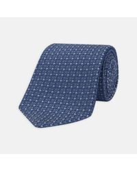 Turnbull & Asser - One For The Boys Blue Silk Tie for Men - Lyst