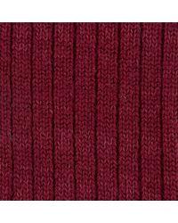 Turnbull & Asser - Red Knitted Wool Socks for Men - Lyst