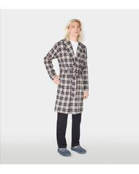 4161ae99db Lyst - Ugg Men s Jon Plaid Robe in Black for Men