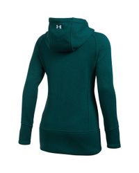 Under Armour - Green Women's Ua Wintersweet Full Zip Hoodie - Lyst