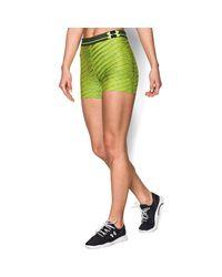 "Under Armour - Green Women's Ua Heatgear® Armour Printed 3"" Shorty - Lyst"