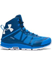 Under Armour   Blue Men's Ua Verge Mid Gtx Hiking Boots for Men   Lyst