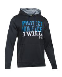 Under Armour | Black Men's Ua Protect Home Ice Hoodie for Men | Lyst