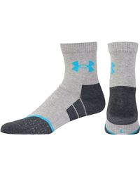 Under Armour - Gray Ua All Season Cool Mid Crew Socks for Men - Lyst