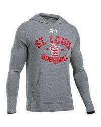 Under Armour - Gray Men's St. Louis Cardinals Ua Tri-blend Hoodie for Men - Lyst