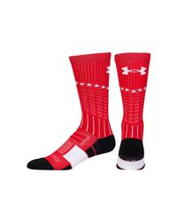 Under Armour - Multicolor Men's Ua Freedom Unrivaled Crew Socks for Men - Lyst