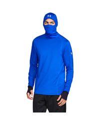 Under Armour - Blue Men's Coldgear® Reactor Run Balaclava Hoodie for Men - Lyst