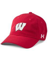 Under Armour - Red Men's Wisconsin Armourventtm Cap for Men - Lyst