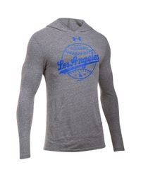 Under Armour - Gray Men's Los Angeles Dodgers Tri-blend Hoodie for Men - Lyst