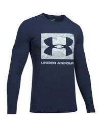 Under Armour - Blue Men's Ua Camo Knockout Long Sleeve T-shirt for Men - Lyst