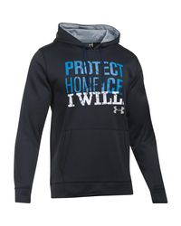 Under Armour - Black Men's Ua Protect Home Ice Hoodie for Men - Lyst