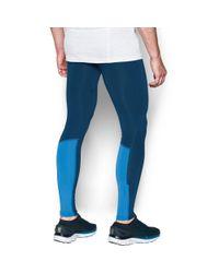 Under Armour - Blue Men's Ua No Breaks Run Leggings for Men - Lyst