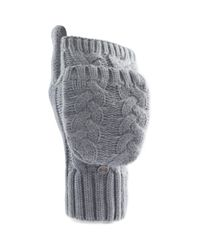 Under Armour - Gray Around Town Flip Cable-knit Mittens - Lyst