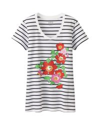 Uniqlo - Gray Women's Liberty London Graphic Tee - Lyst