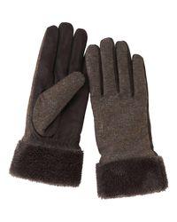 Uniqlo - Brown Women Tweed Touch Gloves - Lyst