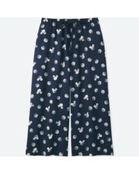 Uniqlo - Women Mickey Blue Relaco 3/4 Shorts (wide) - Lyst
