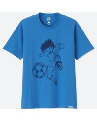Uniqlo - Blue Jump 50th Short-sleeve Graphic T-shirt (captain Tsubasa) for Men - Lyst