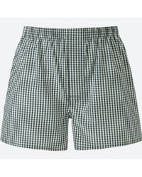 Uniqlo - Multicolor Men Woven Checked Boxers for Men - Lyst