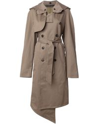 Y. Project | Natural Beige Hooded Trench Coat for Men | Lyst