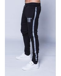 11 Degrees | Black Reflect Skinny Joggers for Men | Lyst
