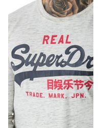 Superdry - White Vintage Logo Duo L/s Tee for Men - Lyst