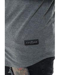 The Couture Club - Gray Osaka Ls Grandad Collar Shirt for Men - Lyst