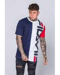 Fila - Blue Blackline Cambiasso T-shirt for Men - Lyst
