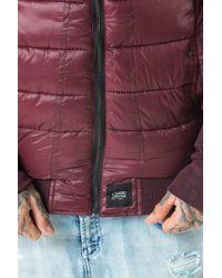 Sixth June - Purple Puffer Jacket for Men - Lyst