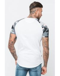 Good For Nothing - Pink Camouflage Raglan T-shirt for Men - Lyst