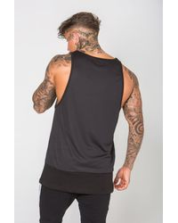 Enuki London - Black Reverse Mesh Detail Vest for Men - Lyst