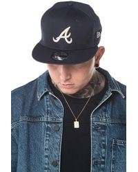 KTZ - Blue Atlanta Braves Essential 9fifty Snapback for Men - Lyst
