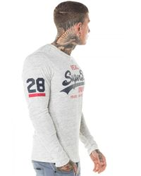 Superdry   White Vintage Logo Duo L/s Tee for Men   Lyst