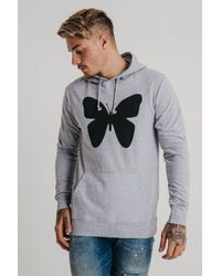 Good For Nothing - Gray Large Butterfly Hoodie for Men - Lyst