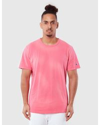 Champion - Pink Reverse Weave T-shirt for Men - Lyst