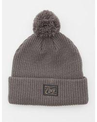 749f38eef78 Lyst - Pointer Obey Old Timey Pom Pom Beanie Hat in Gray