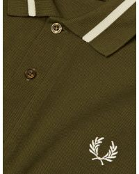 Fred Perry - Green Single Tipped Polo Shirt for Men - Lyst
