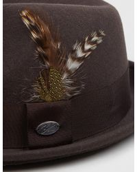 Bailey of Hollywood - Brown Bailey Tino Felt Crushable Trilby Hat for Men - Lyst