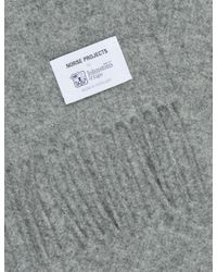 Norse Projects - Gray X Johnstons Lambswool Scarf for Men - Lyst